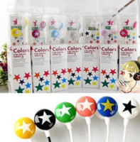 Wholesale Small Star Earphone Earphones Headphone Many Colors With Retail Package