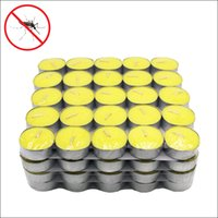 Wholesale 12g package outdoor and home used mosquito insect repellent citronella tealight candles in shrink wrapped package