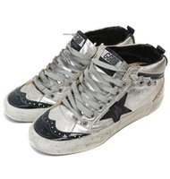 big limes - Golden Goose Korea leather sports lovers do men and women help high Retro Old GGDB big shoes shoes tide