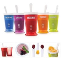 Wholesale Zoku smoothie cup homemade ice cream flavored ice cup ice cream milkshake cup cup machine sand ice cup DIY Manual Mixing Cup