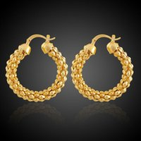big earrings collection - 2015 New Collection Women Promotion Gift Brass Plating Gold Big Round Circle Earrings Jewelry World Store Shop Mall