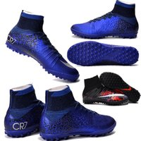 artificial turf soccer - 2016 High Top Soccer Shoes Mercurial Superfly CR SG PRO Fit Adult Children Artificial Turf Natural Hard Turf CR7 Outdoor Kids Soccer Boots