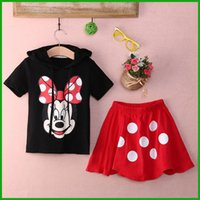baby boy dress pants - fashion style hot selling Baby Boy Girls Kids Summer Mickey Mouse Clothes T shirt dot red Dress Pants Outfit baby girl clothing