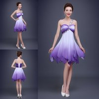 Wholesale Beautiful New One Shoulder Cocktail Homecoming Dresses Sweetheart Ruffle Beaded Short Prom Graduation Dresses Dress for College Party