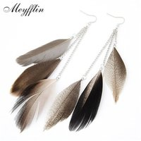 Wholesale 2016 Vintage Feather Earrings For Women Boucle D oreille Femme Fashion Long Earrings Brinco Jewelry Pendientes Bijoux