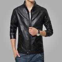 Wholesale 2017 New Arrival Leather Jackets Men s jacket male Outwear Mens Coats Slim fit Spring Autumn PU Jacket De Couro Plus Size M XL