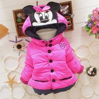 Wholesale casual baby clothing girls winter Minnie coat baby kids coat for children children outerwear coats kids jackets