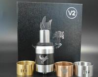 Vaporizador de alta calidad Clone Cigarrillo electrónico caballo oscuro v2 RDA Atomizer Fit Mods Mecánicos 22mm Reconstructable Dripping Atomizer