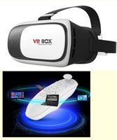 Wholesale VR BOX Google Cardboard Virtual Reality Headset D Glasses IMAX Video Movies Game Glasses For Inch Smartphone Bluetooth Gamepad