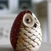 bank asia - 2014 Bank Piggy Southeast Asia Style Ceramic Money Boxes Owl Bird Ornament Statue Decoration Figurine Earthenware