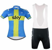Wholesale Hot Sale Sky Cycling Jerseys With Sweden Flag Blue Yellow Colors Short Sleeves Bike Wear Quick Dry Size XS XL Unisex