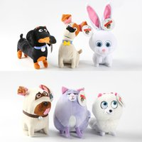 baby snowball - 14 cm The Secret Life Of Pets New Cotton Movie Plush Toys Max Snowball Gidget Mel Chloe Buddy Animals Doll Stuffed Toys Baby Gift