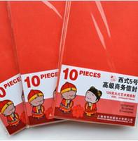 Wholesale pure storage red mini set sets children kid gift vintage envelope elegant money stationary mmX220mm