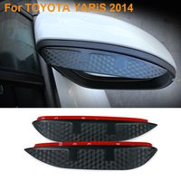 Wholesale 2016 Car Styling Carbon Rearview Mirror Rain Blades Car Back Mirror Eyebrow Rain Cover Protector For TOYOTA YARiS
