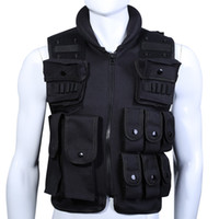 Wholesale 600D Nylon Protective Equipment Tactical Vest Cool Men Hunting Vest Training Swat Vests Outdoor Men Waistcoat