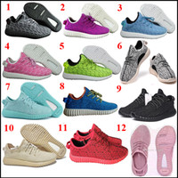 points de vente populaires achat en gros de-Sorties populaires AAA Quality Boost Y boost 350 oxford tan Hommes Femmes Chaussures Sport Sneaker Moonro 350 Boost Pirate Black Turtle Doves Sneakers