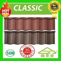 best metal roof - fire resistance best selling africa popular stone chips coated metal roofing tiles