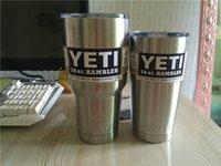 Wholesale 20 oz oz YETI Tumbler Rambler Cups Yeti Rambler Tumbler Stainless Steel oz Mugs Large Capacity Stainless Steel Travel Mug