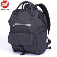 Wholesale School bags teenager vintage casual solid backpack fashion women school backpack shoulder Bag oxford MochilaTigernu rucksack