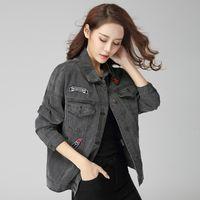 Cheap Ladies Black Denim Jacket | Free Shipping Ladies Black Denim ...