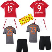 bayern kids - 16 Youth Kids Bayern Munich Soccer Jersey MULLER ROBBEN GOTZE LAHM LEWANDOWSKI Home Away Boys Bayern Football Sets