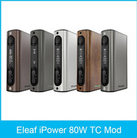 Wholesale 2016 Original Eleaf iPower W TC Mod mah Battery Firmware upgraded Latest Firmware Newly Added Reset Function