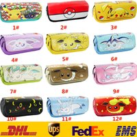 Wholesale New Poke Go Pikachu Ibrahimovic School Pencil Case Pen Bags For Children Kids Adult Cartoon Purse Wallet Cosmetic Makeup Pouch Gifts HH B01