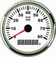 Wholesale 85mm White tachometer rpm PMH3 WS KL