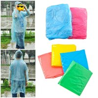 backpacking poncho - 10pcs Disposable Waterproof Adult Rain Coat Poncho Outdoor Hiking Camping Hood