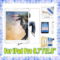 Wholesale High Quality iPad Pro inch Tempered Glass Screen Protectors Protective film mm H D with Retail Package