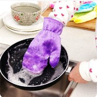 Wholesale Kitchen Non Stained Cleaning Glove Dishes Winter Waterproof Fiber Housework Protective Hands Tool Good Helper