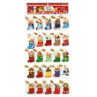 best thin gloves - New Year Christmas Gifts Ornaments Party Supplies Christmas Decoration Glove and Stocking Pattern Cards for Best Wishes