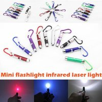 Wholesale in mw Laser Pen Pointer Mini LED FlashLight Torch Flashlight Emergency Keychain Free DHL
