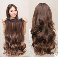 Wholesale 2pcs clip in hair extensions synthetic extentions pieces inch curly extension hairpiece aplique de cabelo colors available