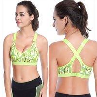 Wholesale High quality Wireless Gym Sports Yoga Sports Print Bra New Design Size S M L XL XXL