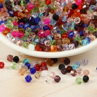 Wholesale High quality Crystal Faceted Glass Quartz Beads mm Clear Diamond Bicone Beads Loose Beads Jewelry Finding DIY Materia