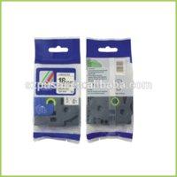Wholesale black on white compatible ptouch mm tz tape TZ SE4 Security tape laminated tape tape cassette mm m