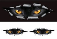 Wholesale Pair Cool D Car Styling Funny Cat Eyes Peeking Car Sticker Waterproof Peeking Monster Auto Accessories