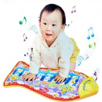 Wholesale New Baby Toy Piano Mat Child Touch Kick Play Fun Learning Education Toy Baby Rattle Fish Animal Musical Mat HT3136