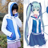 2016 nueva chaqueta de la chaqueta del Hoodie de la cremallera del algodón del traje de Vocaloid Cosplay del Anime del traje de Anime