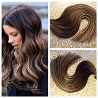 Wholesale HLhair Gram Per Package Color Brown Tape in Hair Mix With Ombre Brown and Ombre Tape in Hair Extensions