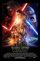 abstract fabric prints - 2016 Star Wars Episode Vii The Force Awakens Movie Poster Fabric Silk Posters And Prints wall pictures for living room