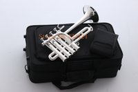 Wholesale Bach Soprano Piccolo trumpet Bb flat bell Top musical instruments In Brass trompete trumpeter bugle horn trompeta