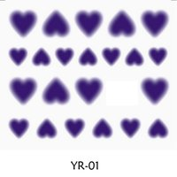 Wholesale Nail Sticker WATER TRANSFER DECAL HALO FUZZY SIX COLORS AVAILABLE SWEET HEART SHAPE