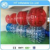 big inflatable ball for human - big size half color adult bumper ball inflatable soccer bubble ball human inflatable bubby bumper bubble football for adult