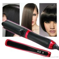 als china - Magic ALS Hair Straightener Rotatable Power Line Button Control Straight Hair Comb same as KD style Brush US UK EU Plug OM CH6