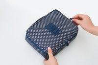 nylon waterproof zipper - Korean version of the second generation printing upgrade travel waterproof storage wash bag travel wash Bags100pcs a004