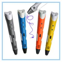 Wholesale 2pcs Hot First Generation D Pen Printing DIY D Doodle Pen Drawing Crafting Tool With PLA ABS Filament D Pen For Gift