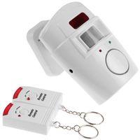 Alarma infrarrojo inalámbrico RF del <b>sensor</b> de movimiento PIR Detector de alarma con 2 Inicio de la alarma teledirigida del IR de ladrón Sistema de seguridad Seguridad