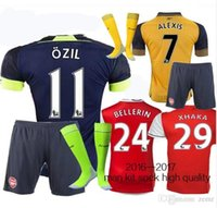 arsenal soccer uniforms - Mixed buy DHL Gunners Sets Uniform Home OZIL WILSHERE RAMSEY ALEXIS GIROUD Welbeck Third Arsenals Jerseys Kits Suit With Short
